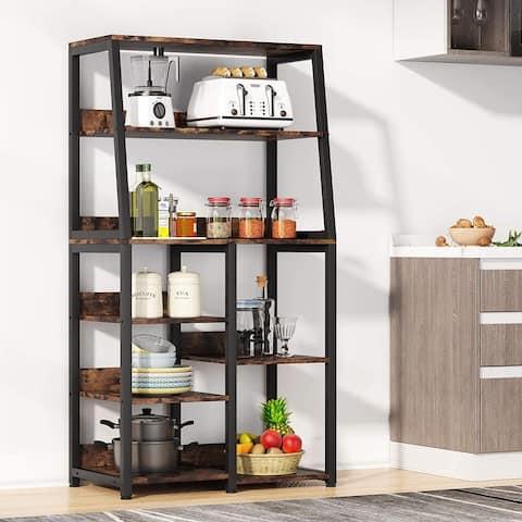8-Tier Industrial Multifunctional Baker's Rack with Storage Shelves