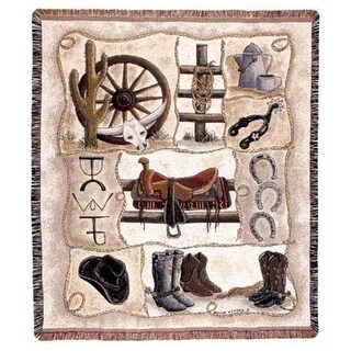 """Western Horse Gear """"Saddle Up"""" Tapestry Throw 50"""" x 60"""""""