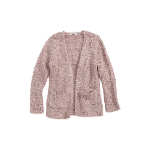 Woven Heart Girls Medium Open-Stitch Cardigan Sweater