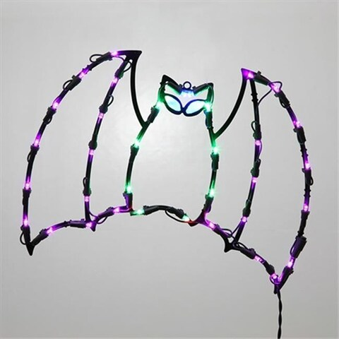 16 in. Lighted LED Bat Halloween Window Silhouette Decoration