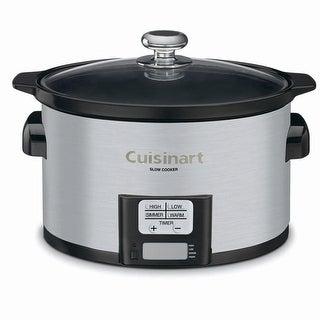 Cuisinart PSC-350 3-1/2-Quart Programmable Slow Cooker, Stainless Steel