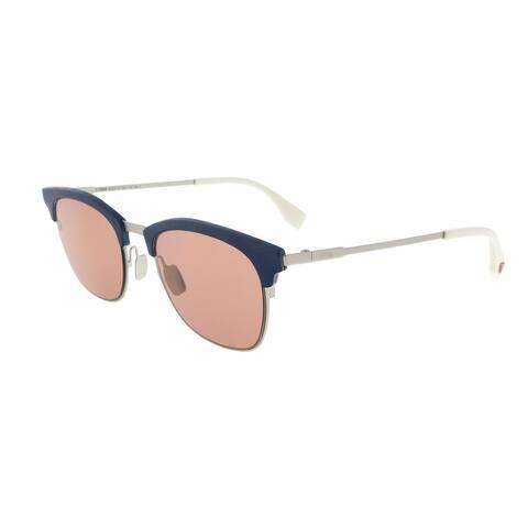 Fendi FF0228/S 0J2B Silver Red Rectangle Sunglasses - 50-21-145