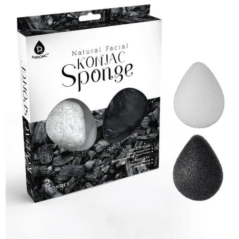 Pursonic Face Konjac Sponge 2 Piece