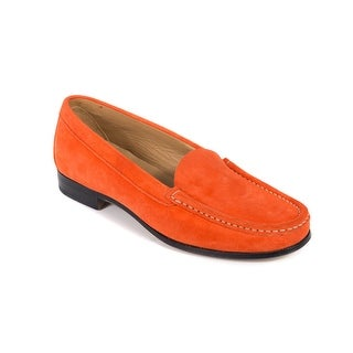 Churchs Womens Tangerine Orange Suede Nelly Loafers