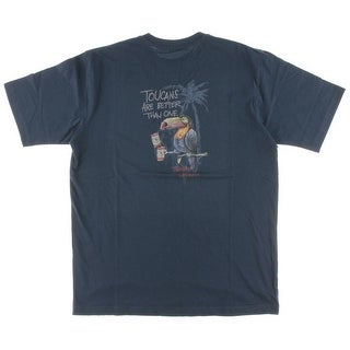 Tommy Bahama Mens Toucans Are Better Crew Neck Short Sleeves Graphic Tee