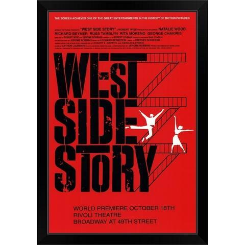 """""""West Side Story (Broadway) (1957)"""" Black Framed Print"""