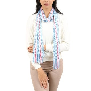 Link to Missoni  Blue/Red Wave Scarf - 15.2-68 Similar Items in Scarves & Wraps