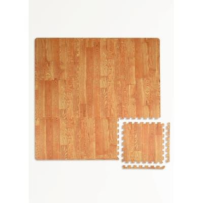 Vineyard Crate Interlocking Floor Foam Tiles - 36in x 36in x 0.4in