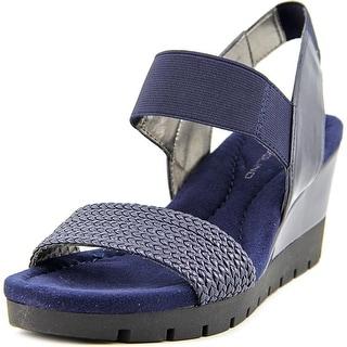 Bandolino Mateja Women Open Toe Synthetic Wedge Sandal