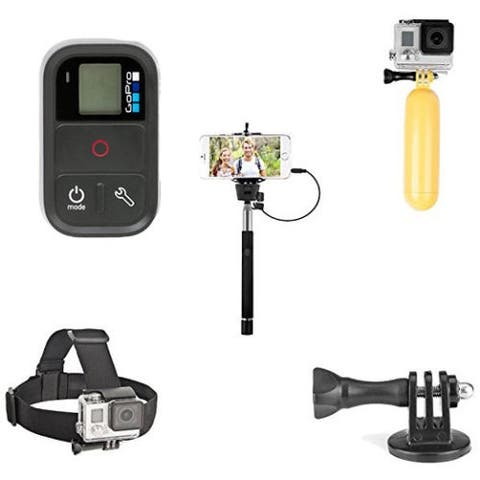 Original GoPro Smart Remote Wi-Fi Remote With Selfie Wand, Floaty Bobber, Head Strap & Tripod Adapter