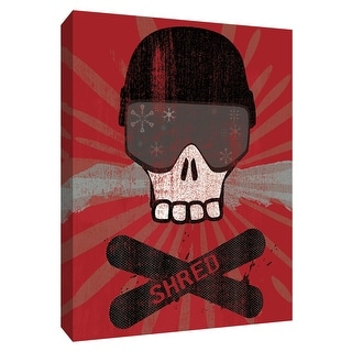 """PTM Images 9-154491  PTM Canvas Collection 10"""" x 8"""" - """"Shred"""" Giclee Sports and Hobbies Art Print on Canvas"""
