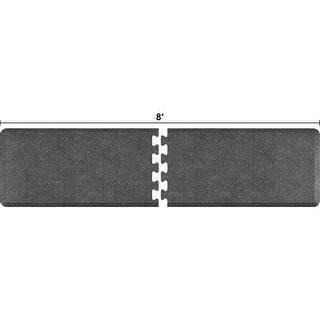 WellnessMats Anti-Fatigue Puzzle Set Office & Kitchen Mat, 8 Feet by 2 Feet, Granite Steel - granite steel