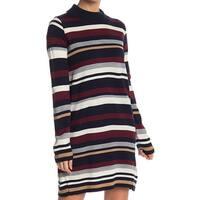 Cotton Emporium Blue Womens Size Medium M Turtleneck Sweater Dress