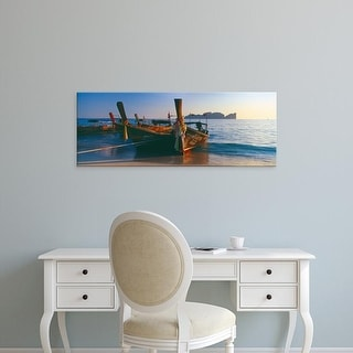 Easy Art Prints Panoramic Images's 'Fishing boats in the sea, Phi Phi Islands, Phuket Province, Thailand' Canvas Art