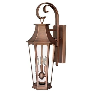 """Vaxcel Lighting T0120 Preston 3 Light 6"""" Wide Outdoor Wall Sconce with Photocell Included"""
