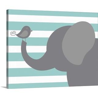 """Elephant Stripe"" Canvas Wall Art"