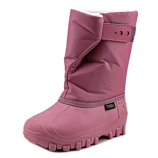 Tundra Teddy 4 Youth Round Toe Synthetic Pink Snow Boot