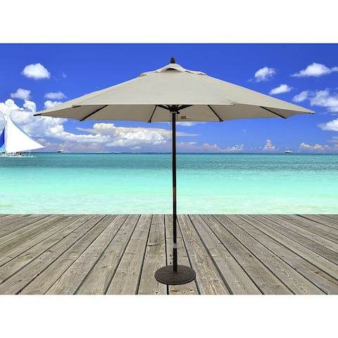 TropiShade 11-foot Dark Wood Market Umbrella with Beige Olefin Cover
