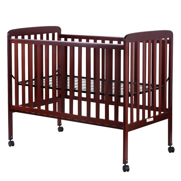 Shop Costway Pine Wood Baby Cribtoddler Bed Convertible Nursery