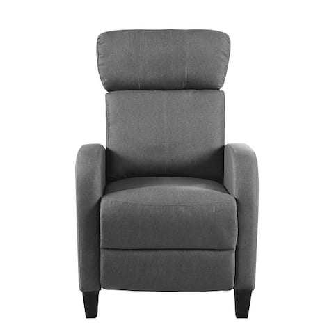 Plush Small Space Manual Recliner Chair