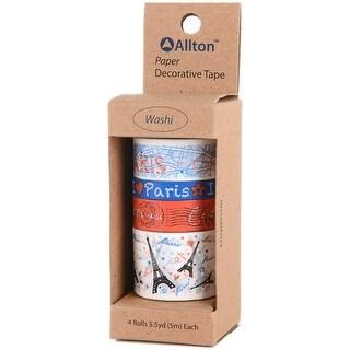 Decorative Washi Tape Assorted Widths 5M 4/Pkg-Paris