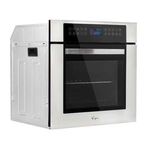 EMPAVA 24 in. Single Electric Wall Oven with Convection Fan in Stainless Steel