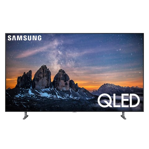 "Samsung QN55Q80R 55"" QLED 4K UHD Smart TV with Bixby Intelligent Voice Assistant - Silver"