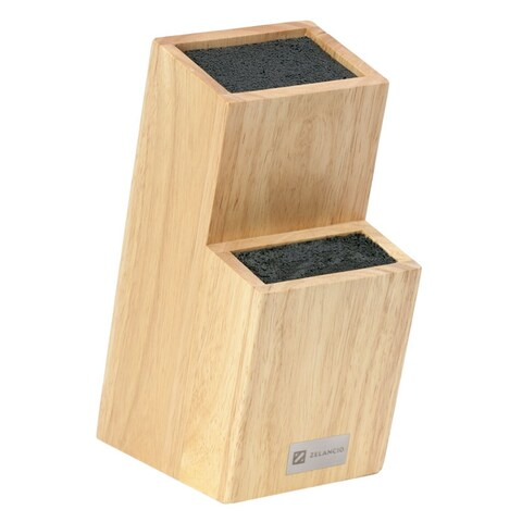 Zelancio Universal Wood Knife Holder Wooden Knife Block for Any Knife Block only
