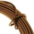 Artistic Wire, Aluminum Craft Wire 12 Gauge Thick, 12 Meter Spool, Anodized Light Brown - Thumbnail 0