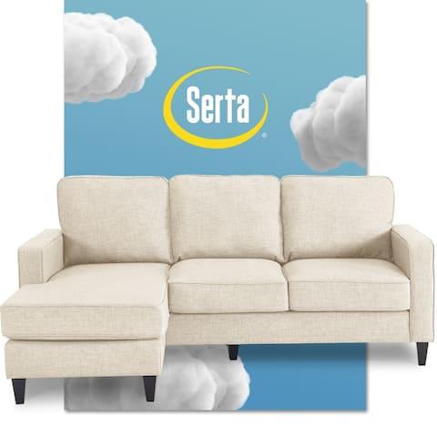 Serta Harmon 80-inch Reversible Sectional Sofa