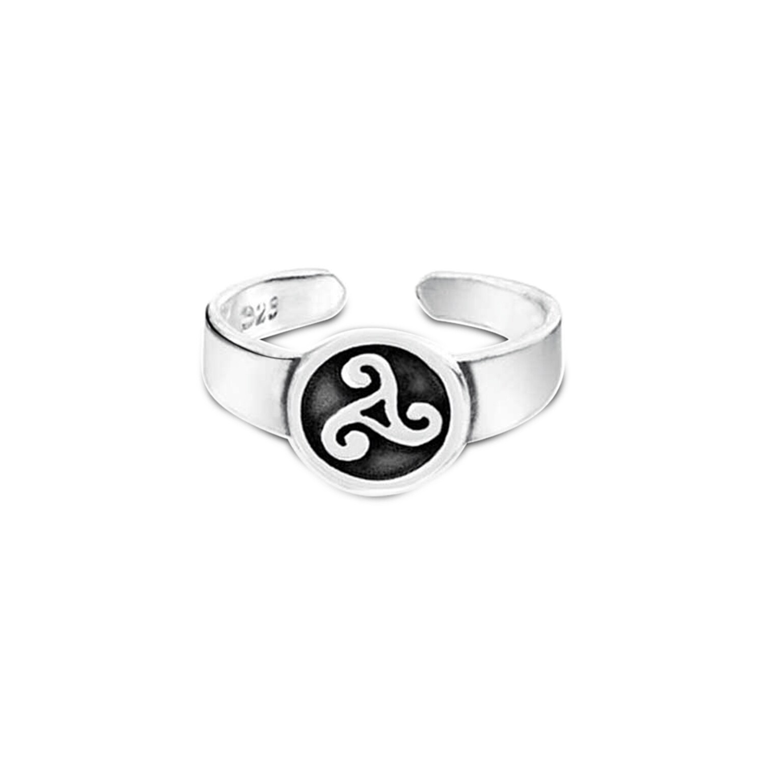 Sterling Silver Trinity Knot Slender Band Ring Celtic Triquetra Knotwork Jewelry