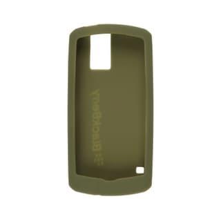 OEM BlackBerry 8100, 8100c Pearl Gel Skin Case, Olive Green