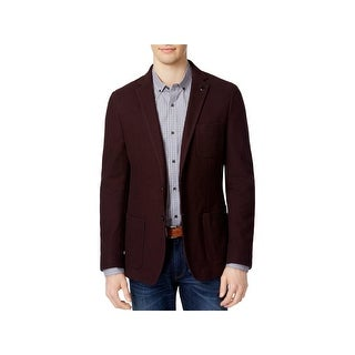 Michael Kors Mens Two-Button Blazer Cotton Notch Collar