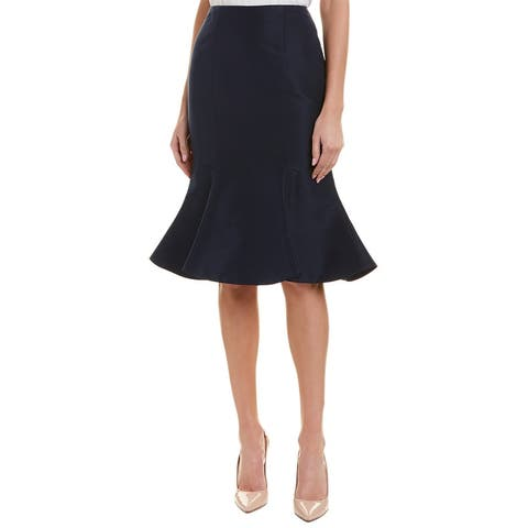 Carolina Herrera Silk Midi Skirt