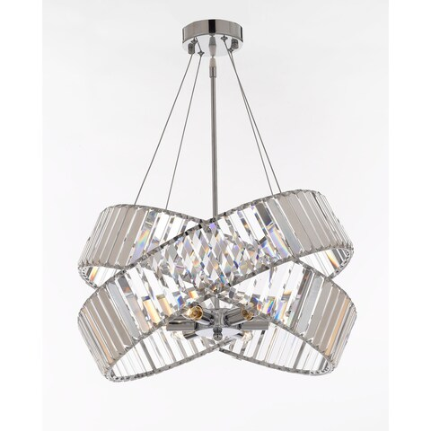 Crystal Ribbon Chandelier Modern / Contemporary Lighting Pendant 20 Wide