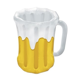 Pack of 6 Inflatable Frosty Beer Mug Party Drink Coolers 27""
