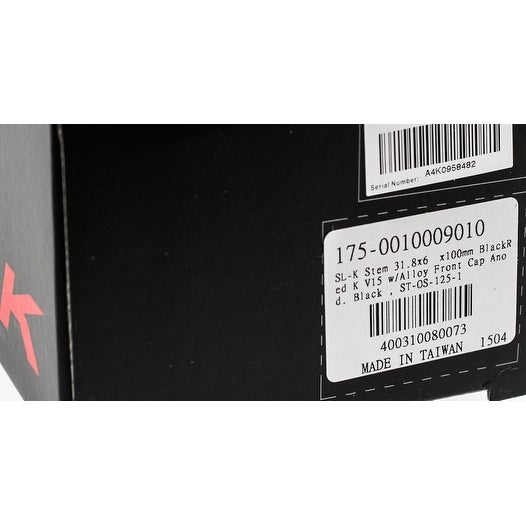 "MTB Black Grey K NEW FSA SL-K Bike Stem 31.8 x 110mm 1-1//8/"" 3D Alloy Road"