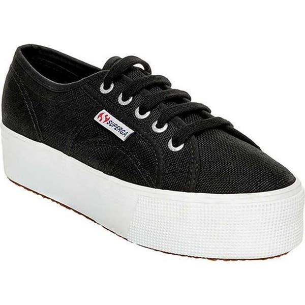 2a201dc77a8 Shop Superga Women s 2790 ACTOW Flatform Sneaker Black White - On ...