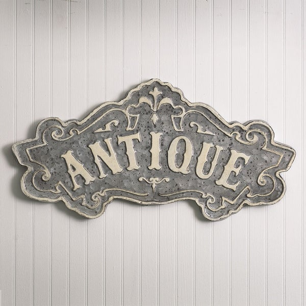"""Antique"" Metal Sign"