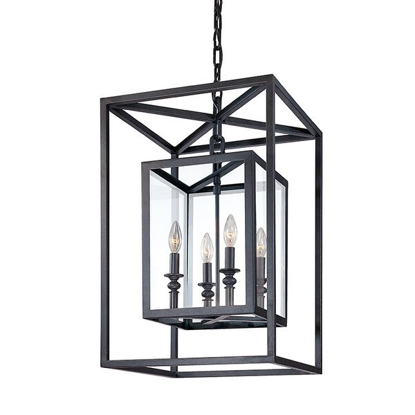 Morgan 4-light Bronze Pendant with Clear Glass. Opens flyout.