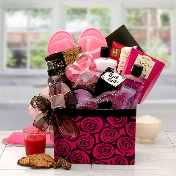 A Spa Day Getaway Gift Box Gift Basket