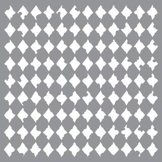 """Distressed Harlequin - Americana Decor Stencil 12""""X12"""""""