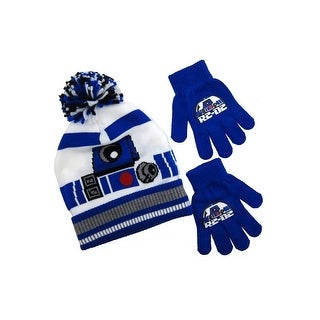Star Wars R2-D2 Knitted Beanie and Glove Set, White