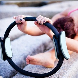 """14"""" Black Magic Pilate Ring Circle Magic Exercise Fitness Workout Sport Weight Loss Black"""