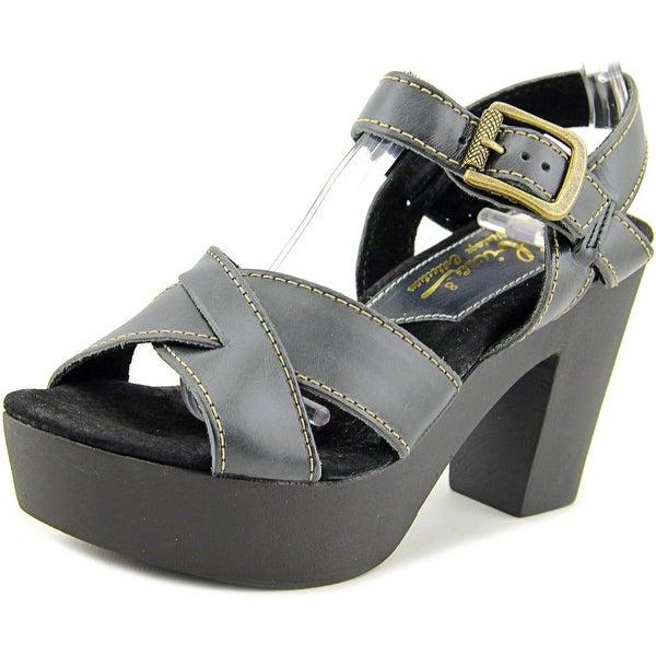 Sbicca Blackwell Women Open Toe Leather Black Platform Sandal