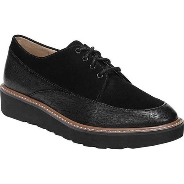 661ccf8f04a Naturalizer Women  x27 s Auburn Platform Oxford Black Tumbled Leather Suede