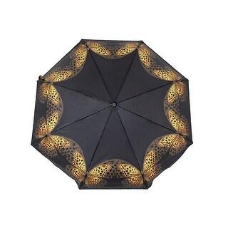 Beautiful Yellow Butterflies Black Super Mini Travel Umbrella