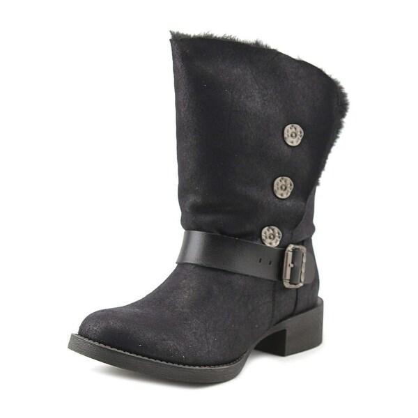 Blowfish Katti Shr Women Round Toe Synthetic Black Mid Calf Boot