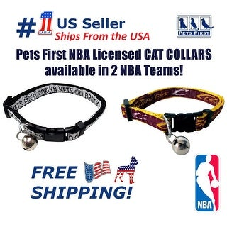 Pets First NBA Cat Collar - Durable and Heavy Duty Nylon Web Collar
