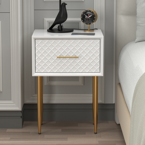 COZAYH Modern Contemporary Spacious Drawer Nightstand Side Table, Clean-Lined Transitional Style. Opens flyout.